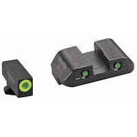 AmeriGlo Glock Sights G42 G43 G43x Trooper Green Tritium Set