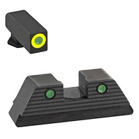 AmeriGlo Glock Sights Glock 20/21 Trooper Green Tritium Set