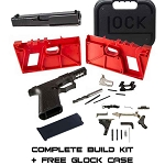 Complete Compact 19 Build Kit Black P80 80% Frame & Glock Parts