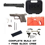Complete Subcompact 26 Build Kit Black P80 80% Frame & Glock Parts