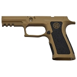 Custom Sig P320 Hand Stippled Grip - X Carry Burnt Bronze Grip Mod