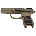 Custom Sig P320 Laser Stippled Cerakote FDE Subcompact Grip