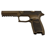 Custom Sig P320 Laser Stippling Burnt Bronze Full Grip Mod