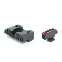 Henning Sight Set All Glock Fiber Front Black Rear Sight