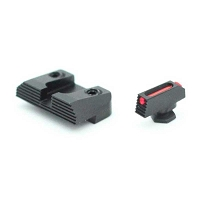 Henning Sight Set Glock 42 / 43 Fiber Front Black Rear Sight