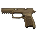 Savage Beard Sig Compact P320 Burnt Bronze Grip Mod Finger Groove Contour