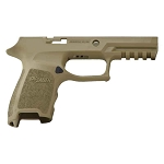 Savage Beard Sig Compact P320 Coyote Tan Grip Mod Finger Groove Contour