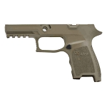 Savage Beard Sig Compact P320 FDE Grip Mod Finger Groove Contour