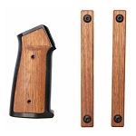 Sharps Bros Aluminum & Wood AR Pistol Grip and Handguard Panels