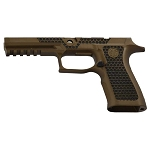 Sig P320 Laser Stippled Burnt Bronze X-Series Full Grip Mod
