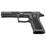Sig P320 Laser Stippled Tungsten Grey X-Series Full Grip Mod