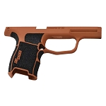 Sig P365 Custom Grip Module - Copper Suede & Stippled Grip