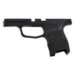 Sig P365 Thumb Rest Hand Stippled Texture Grip Module in Black