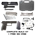 Complete Black Compact 9mm Sig Build Kit - JSD 80% Frame & Sig Parts