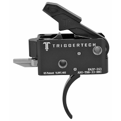Black TriggerTech 3.5lb Two Stage Competitive Curved Drop In Trigger