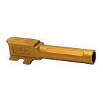 True Precision Glock 43 Barrel - Gold TIN Fluted Drop-In Barrel