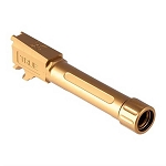 True Precision Glock 43 Threaded Barrel - Gold TIN Drop-In