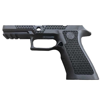 Custom Sig P320 Laser Stippled Grip - X Carry Black Grip Mod