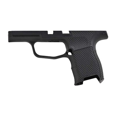 MD Customs Sig P365 Fishnet Laser Stippling Grip Module in Black