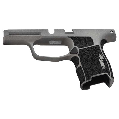 Sig Sauer Custom P365 Stippled Grip Module in Savage Stainless