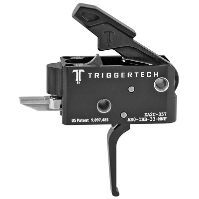Black TriggerTech 3.5lb Two Stage Competitive Flat Drop In Trigger
