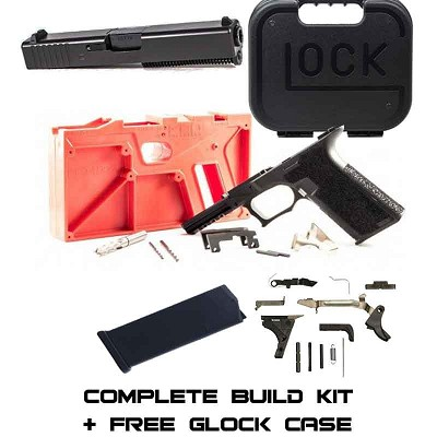 Complete Full Size 31 Build Kit Black P80 80% Frame & Glock Parts