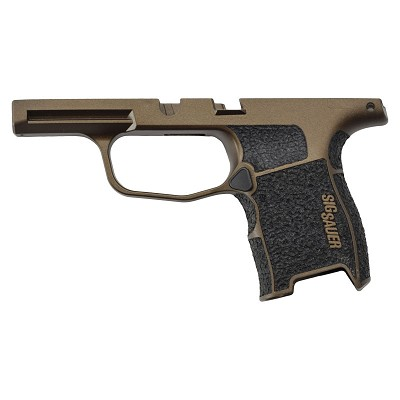 Sig P365 Custom Grip Module - Burnt Bronze & Stippled Grip